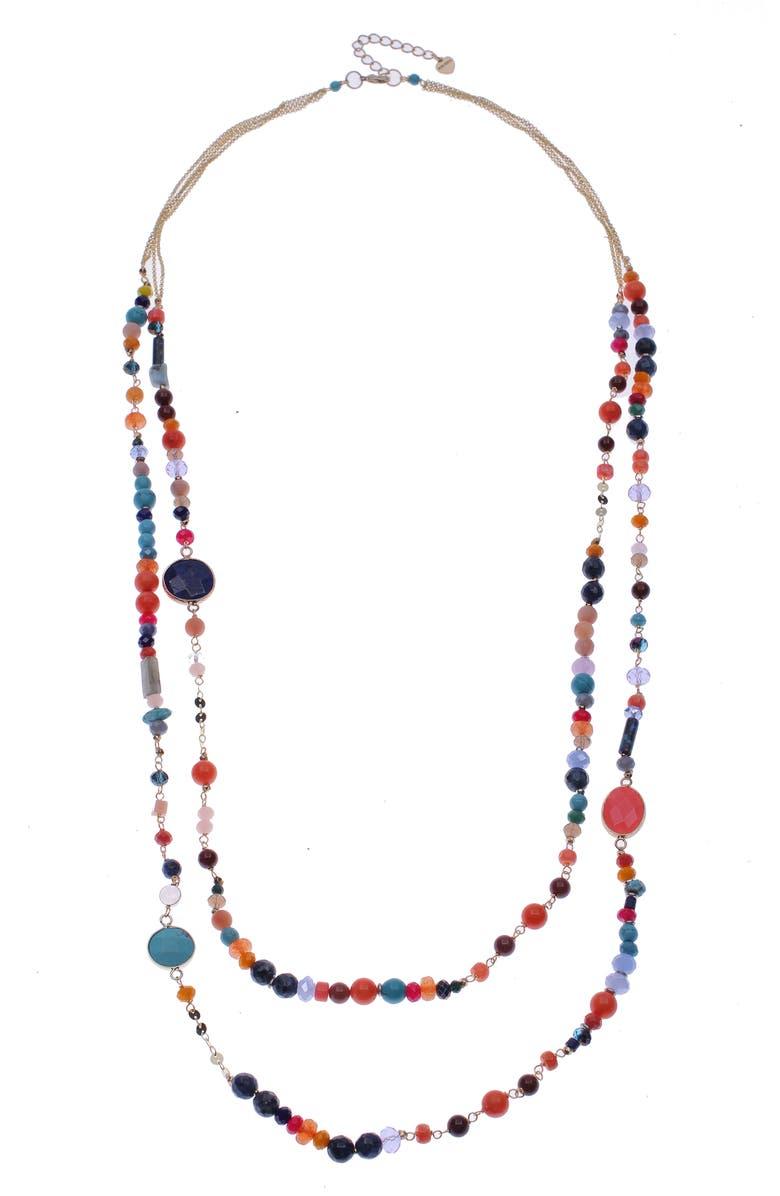 NAKAMOL DESIGN Layered Necklace, Main, color, BRIGHT MULTI
