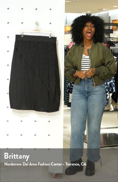 Pull-On Satin Jacquard Skirt, sales video thumbnail