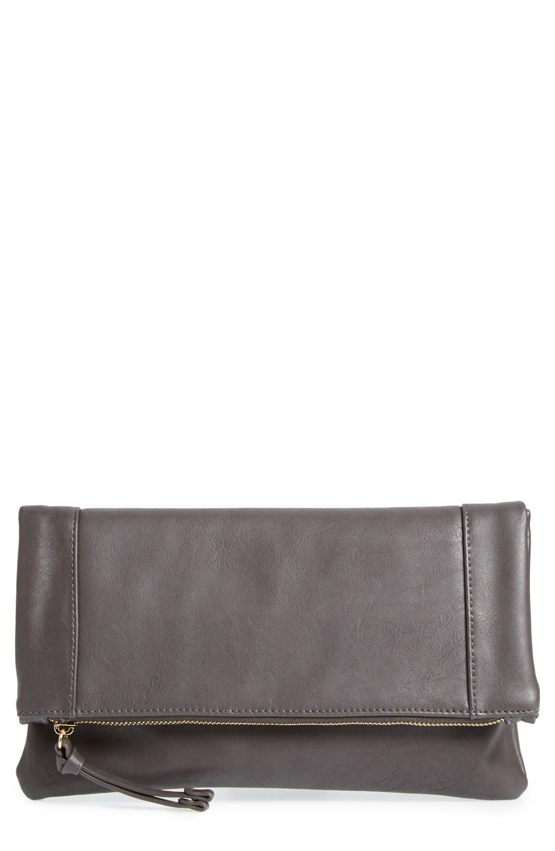 ,                             Marlena Faux Leather Foldover Clutch,                             Main thumbnail 21, color,                             020