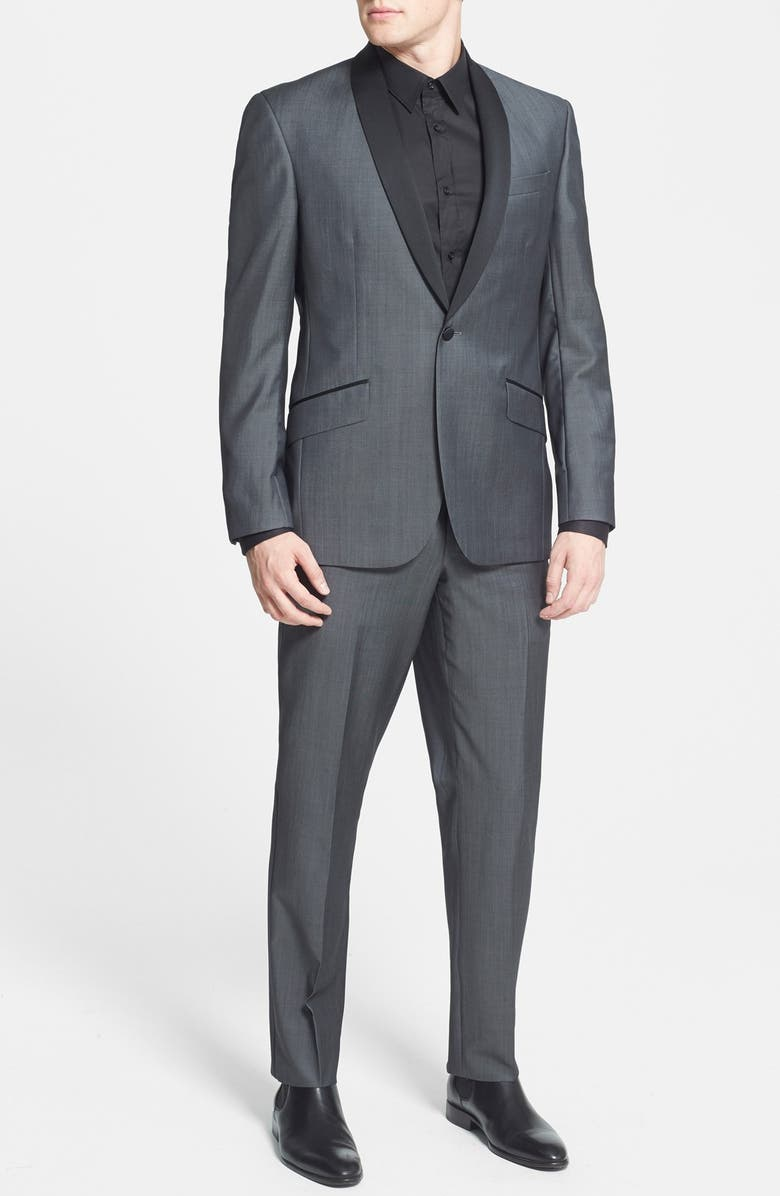 df4caa7c728e46 Ted Baker London 'Josh' Trim Fit Wool & Mohair Tuxedo | Nordstrom