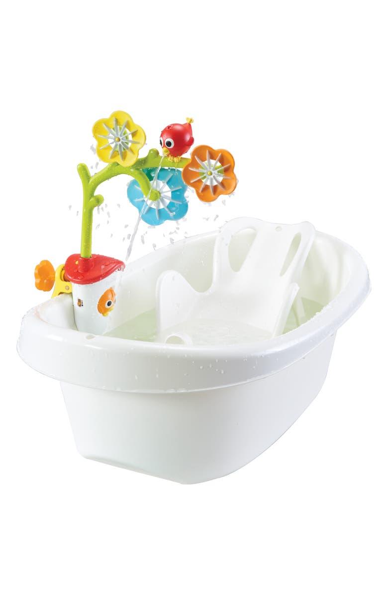 YOOKIDOO Spin 'N' Sprinkle Sensory Arc Bath Mobile, Main, color, GREEN