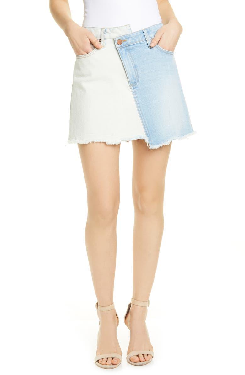 Two Tone Denim Miniskirt by Alice + Olivia Jeans