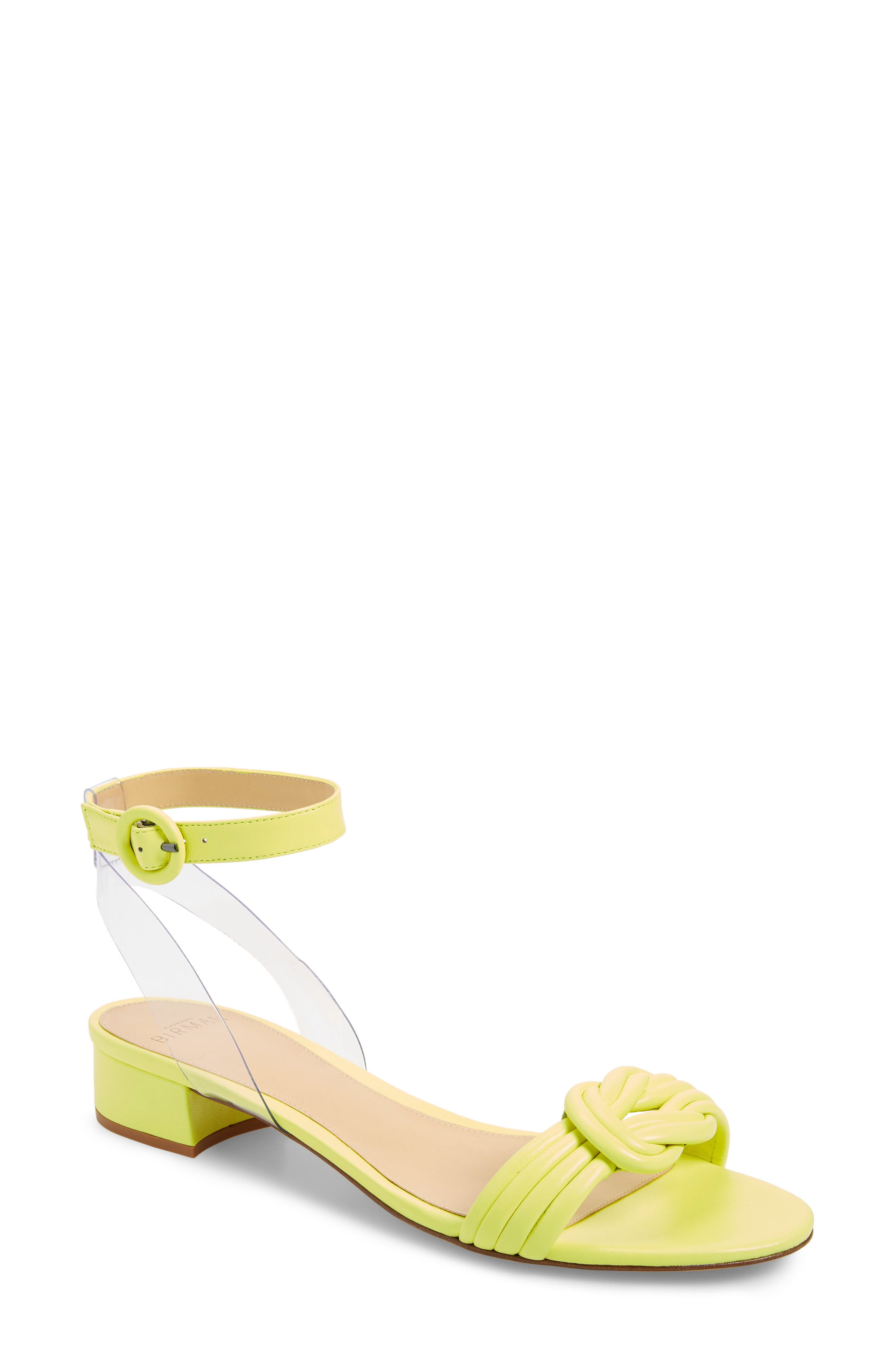 Alexandre Birman Vicky Ankle Strap Sandal, Yellow