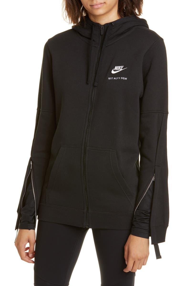 1017 ALYX 9SM x Nike Full Zip Hoodie, Main, color, BLACK