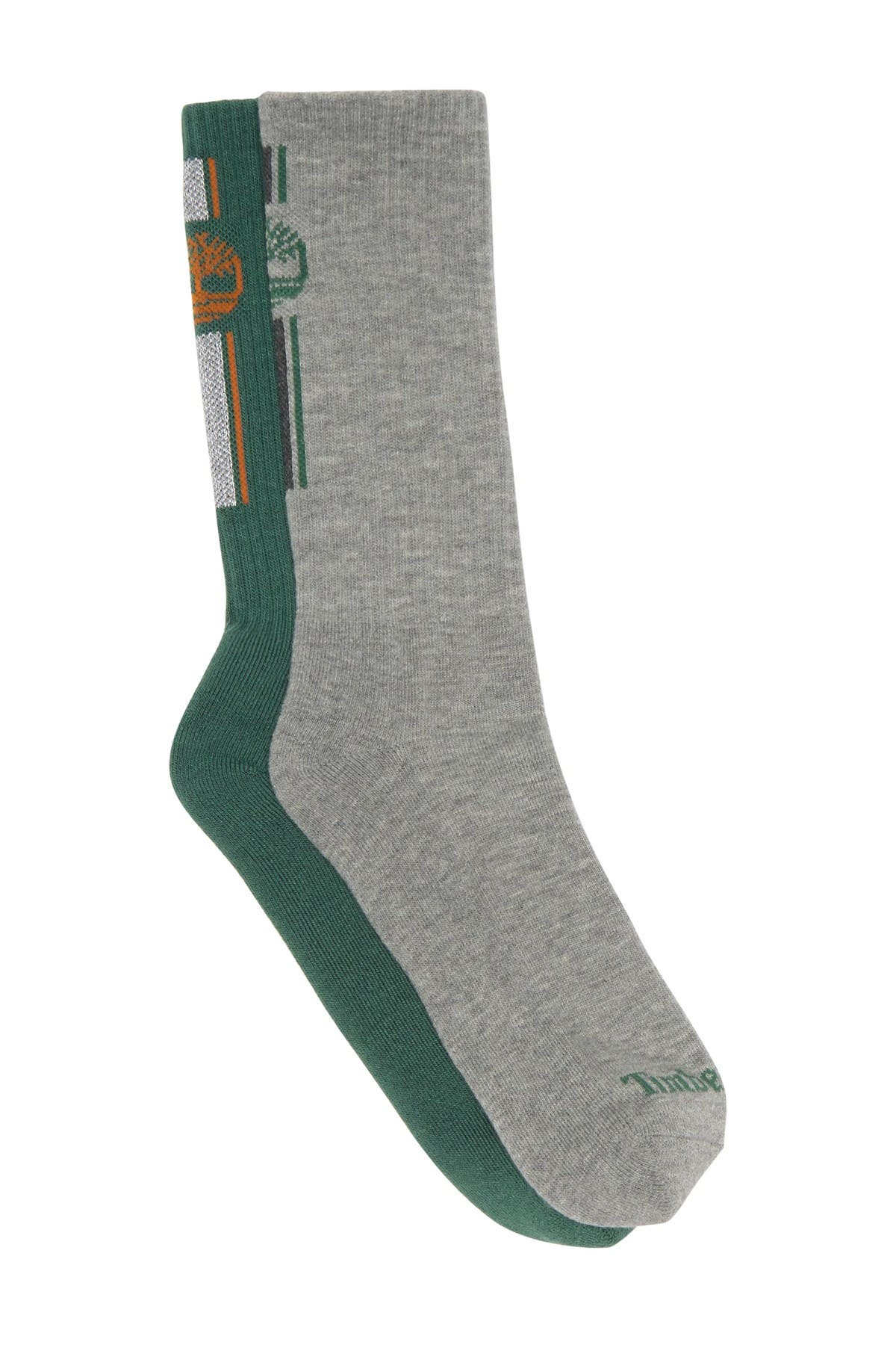 Image of Timberland Striped Ribbed Crew Socks - Pack of 2