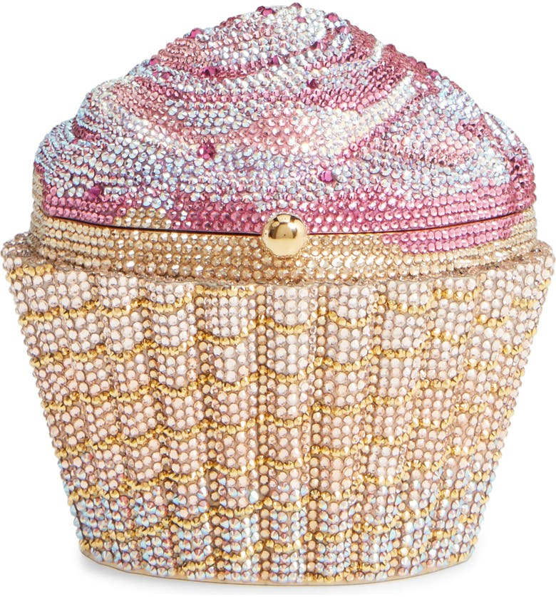 JUDITH LEIBER Cupcake Crystal Embellished Clutch, Main, color, 650