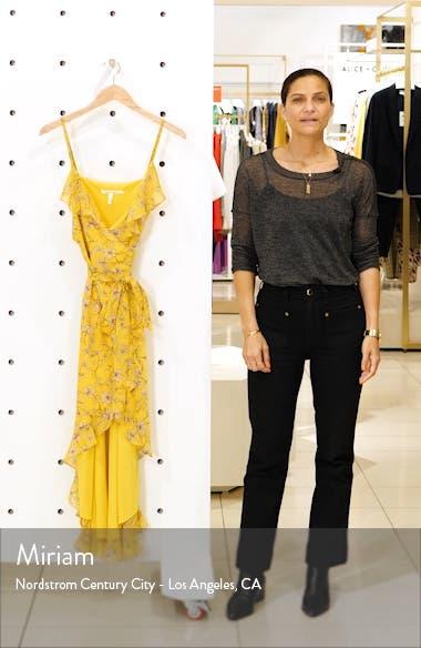 Floral High/Low Wrap Midi Dress, sales video thumbnail