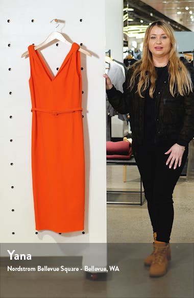 Knot Crepe Midi Sheath Dress, sales video thumbnail