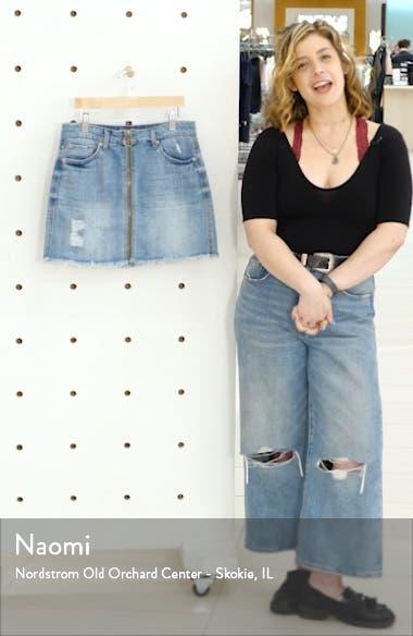 Emily Zip Front Denim Miniskirt, sales video thumbnail