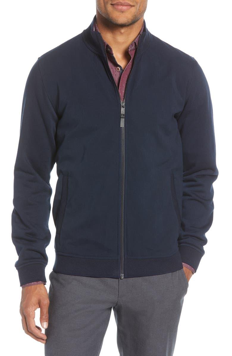 TED BAKER LONDON Trafjam Slim Fit Track Jacket, Main, color, NAVY
