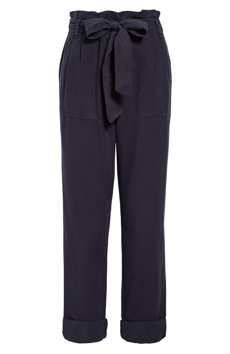 TREASURE & BOND Paperbag Waist Pants, Main, color, NAVY NIGHT