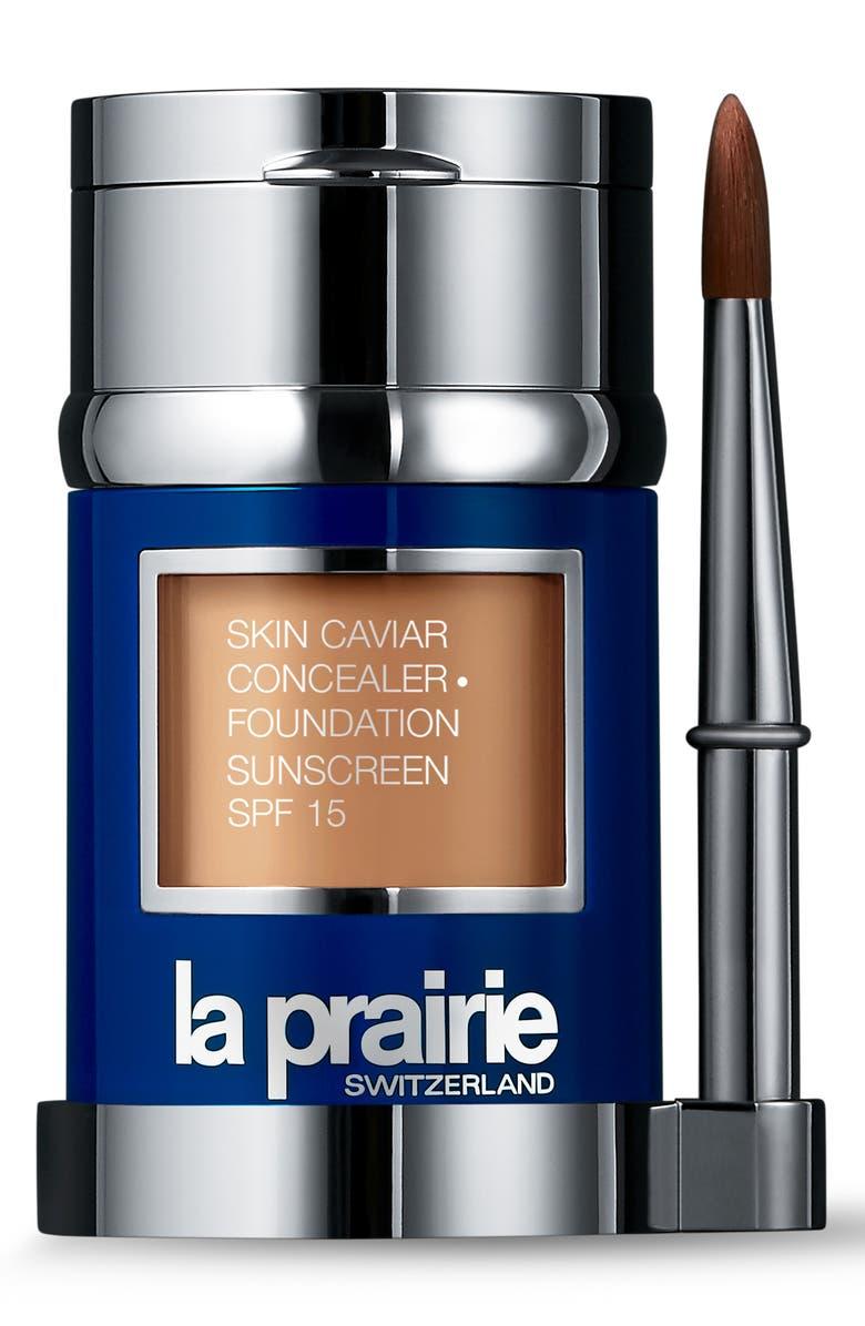 LA PRAIRIE Skin Caviar Concealer + Foundation Sunscreen SPF 15, Main, color, WARM BEIGE
