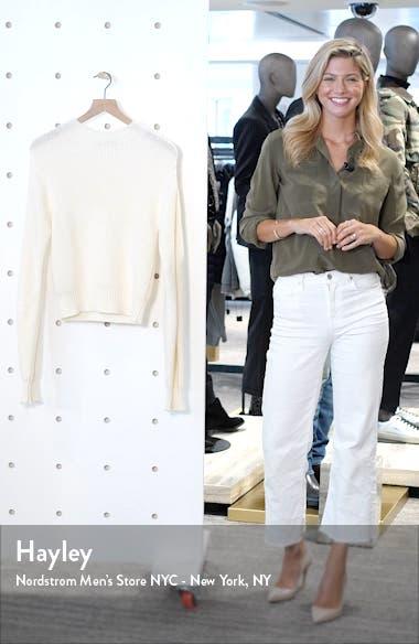 Imitation Pearl Cuff Wool Blend Sweater, sales video thumbnail