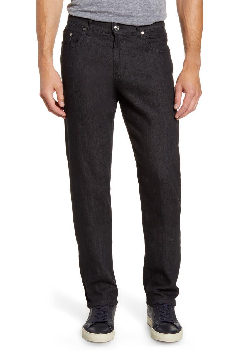 Brax Cooper Five Pocket Straight Leg Pants Perma Grey