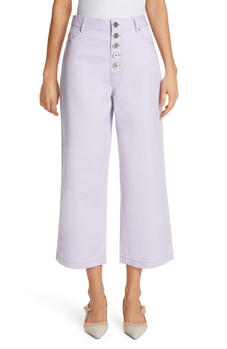 Button Front Crop Pants by Kate Spade New York