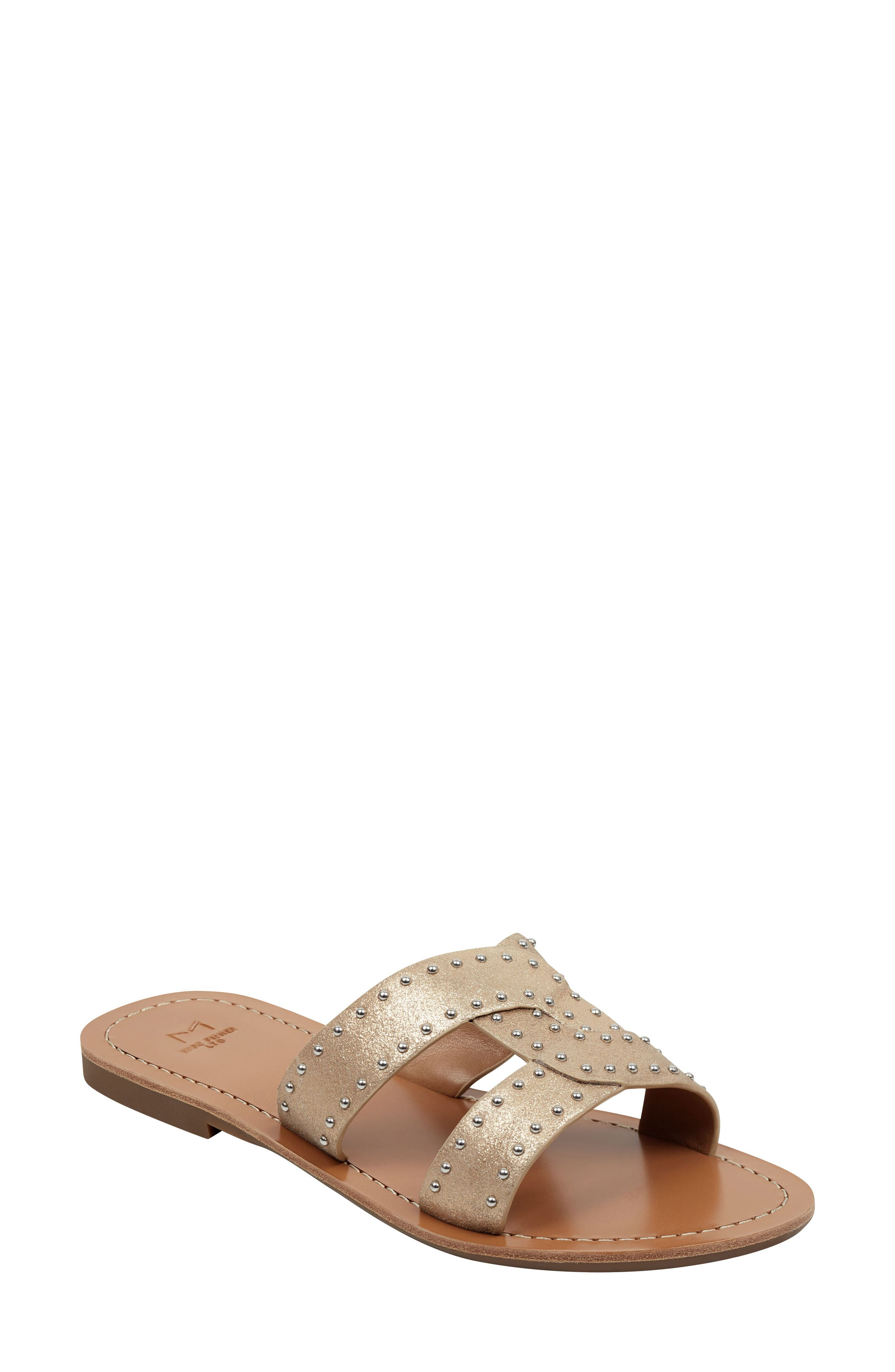 Marc Fisher Ltd Ramie Slide Sandal, Metallic