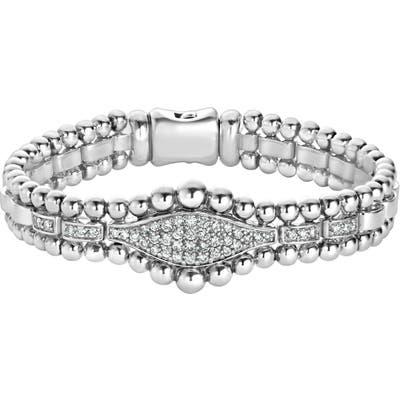 Lagos Caviar Spark Diamond Marquise Link Bracelet