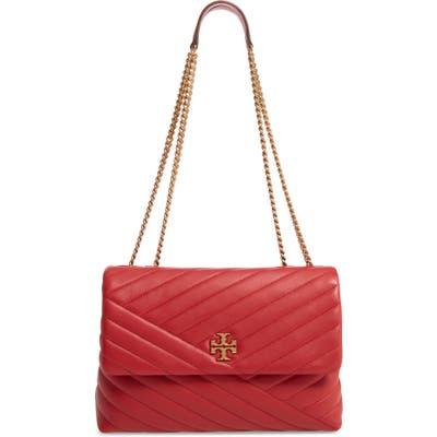 Tory Burch Kira Chevron Leather Crossbody Bag - Red