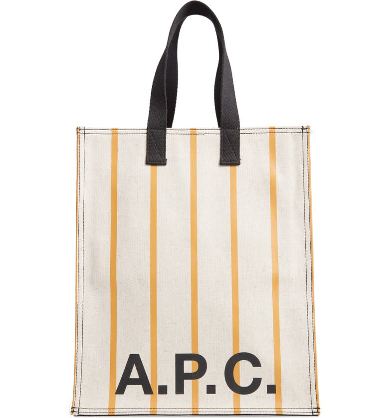 A.P.C. Cabas Canvas Tote, Main, color, OCRE