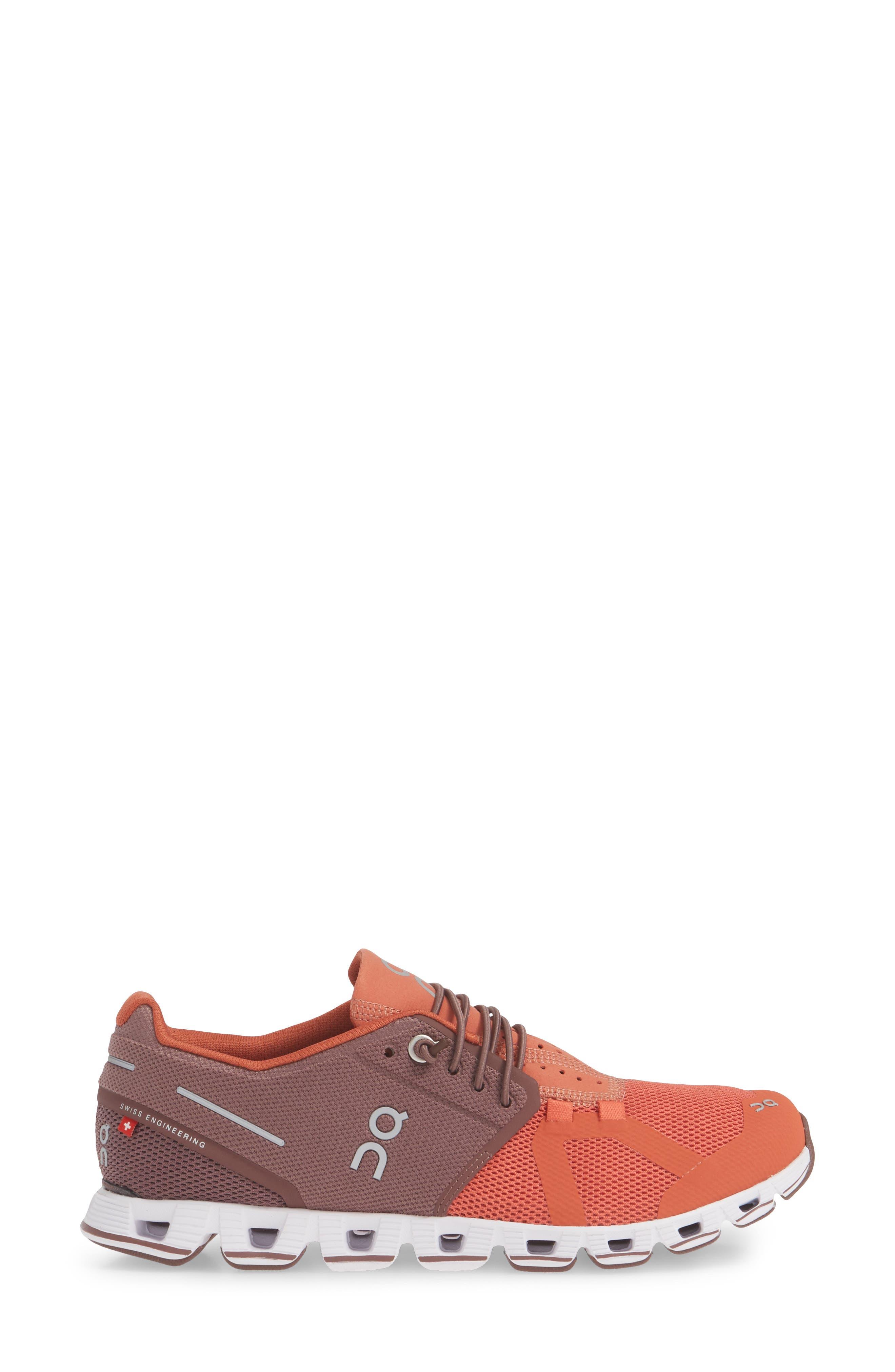 ,                             Cloud 50/50 Colorblock Running Shoe,                             Alternate thumbnail 3, color,                             GRAPE/ GINGER