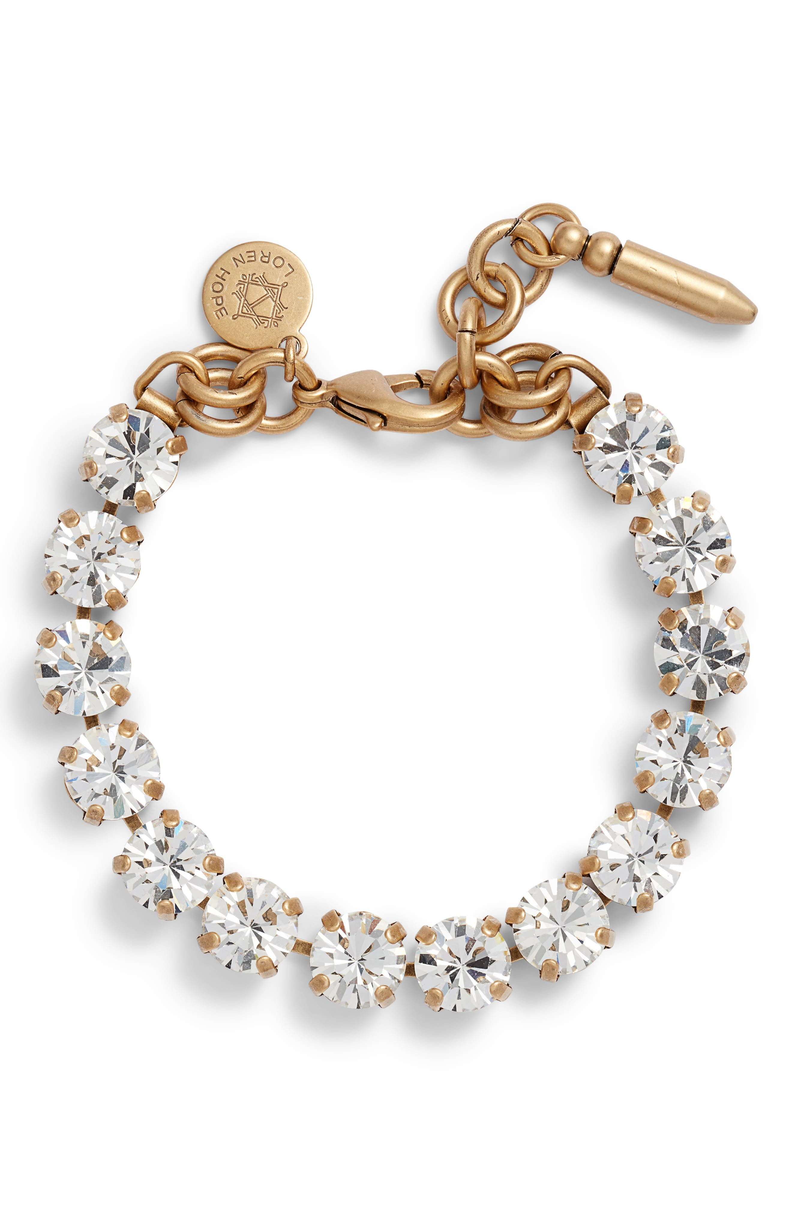 ,                             Arista Crystal Bracelet,                             Main thumbnail 1, color,                             CRYSTAL