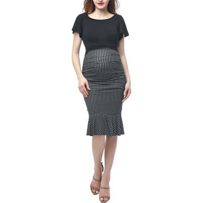 Kimi And Kai Irena Convertible Off The Shoulder Body-Con Maternity Dress
