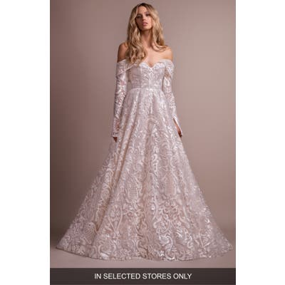 Hayley Paige Marsden Lace Off The Shoulder Wedding Dress
