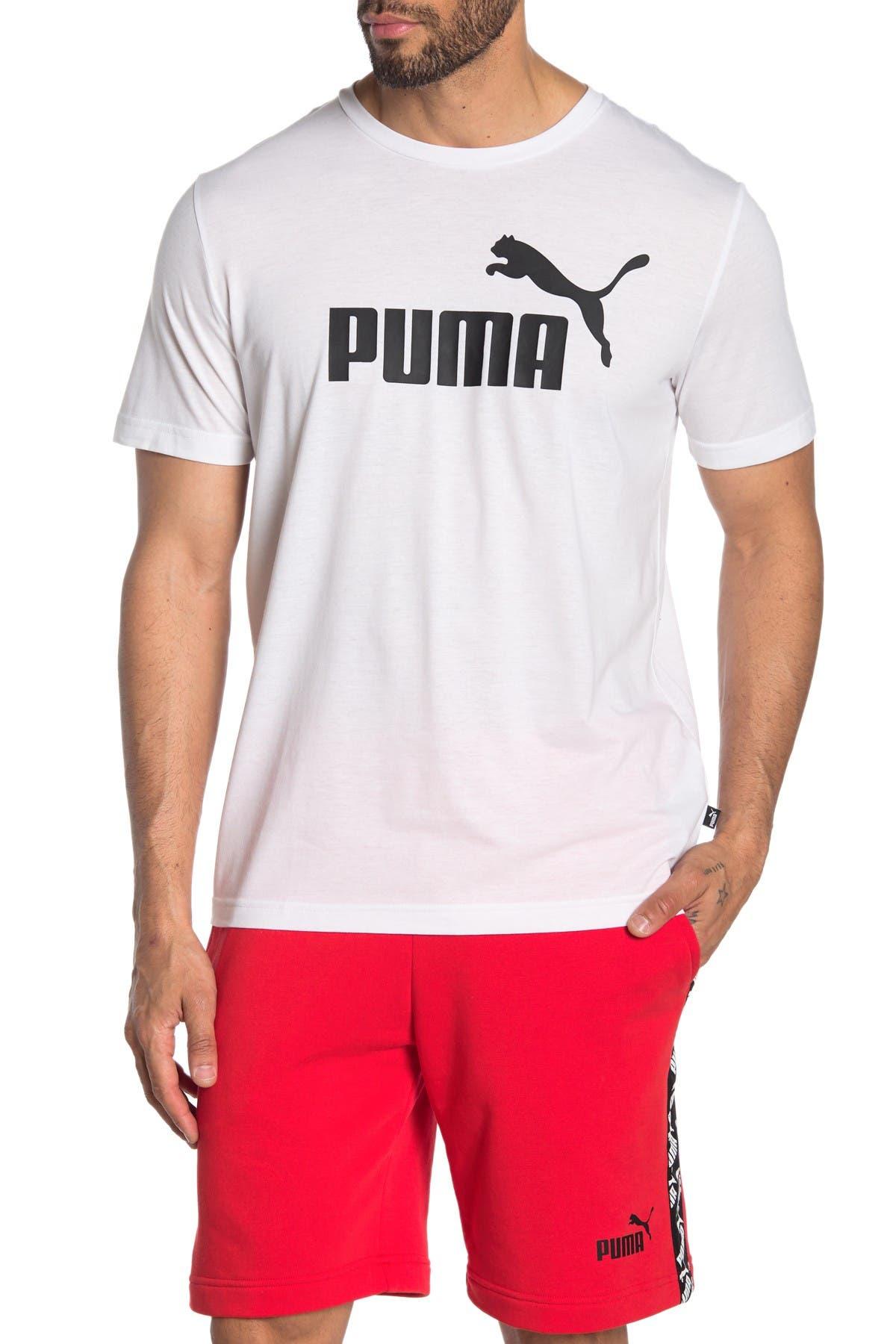 Image of PUMA Essentials+ Heather Brand Logo T-Shirt
