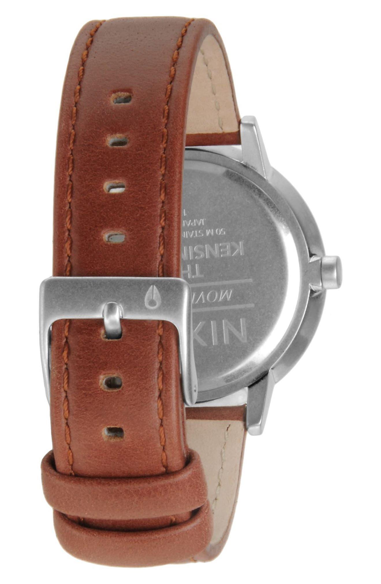 ,                             'The Kensington' Leather Strap Watch, 37mm,                             Alternate thumbnail 7, color,                             250