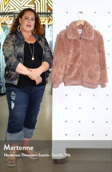 Teddy Or Not Faux Fur Bomber Jacket, sales video thumbnail