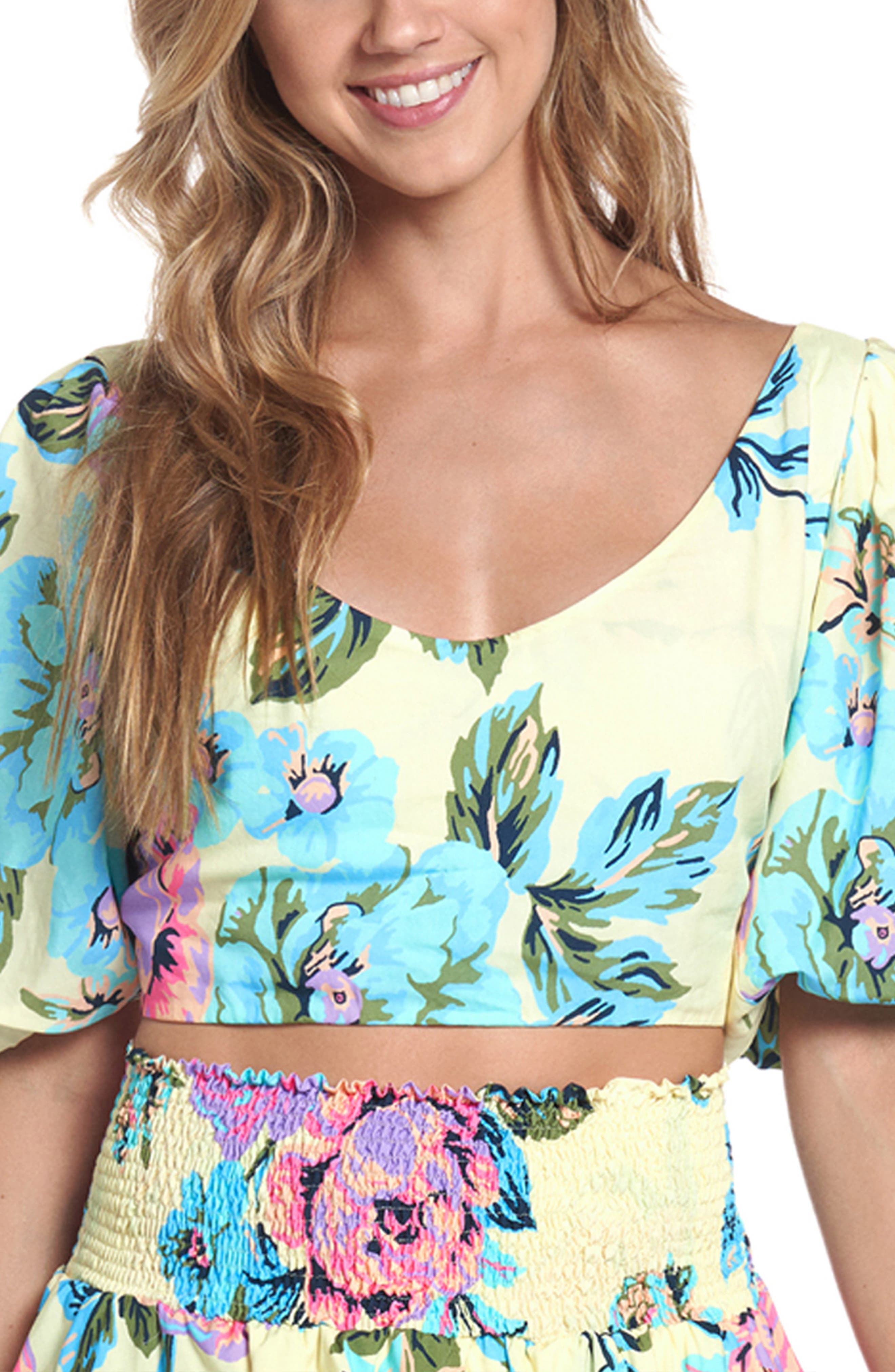 Trust Your Instinct Floral Cover-Up Crop Top