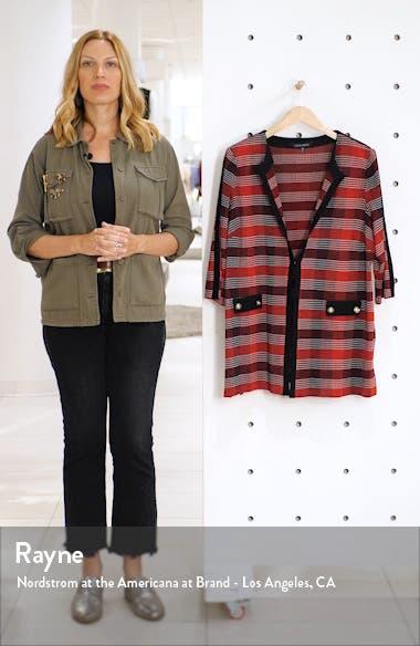 Long Plaid Knit Jacket, sales video thumbnail