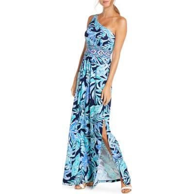 Lilly Pulitzer Malia One-Shoulder Maxi Dress, Blue