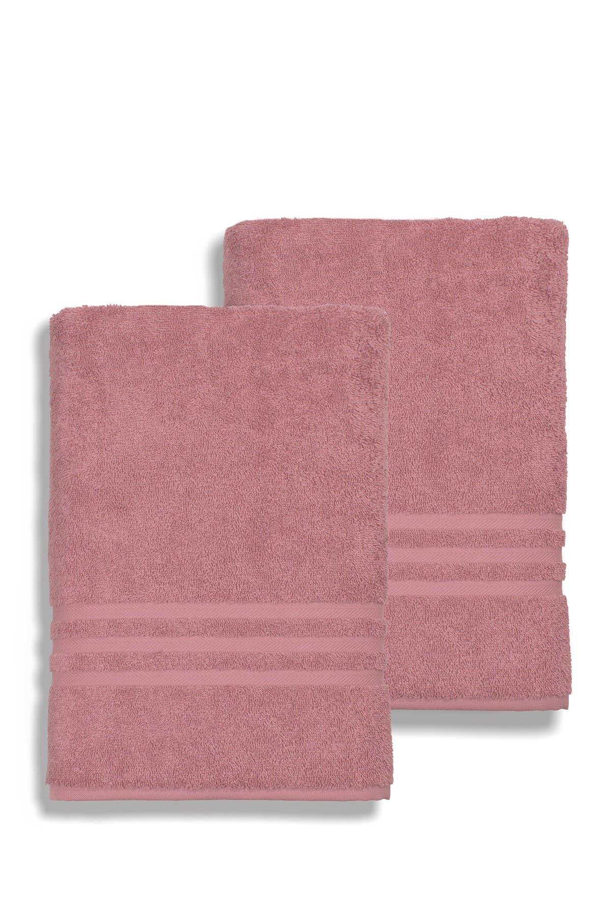 Image of LINUM HOME Denzi Bath Sheet - Set of 2 - Tea Rose