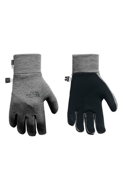 The North Face E-tip Gloves In Tnf Medium Grey Heather