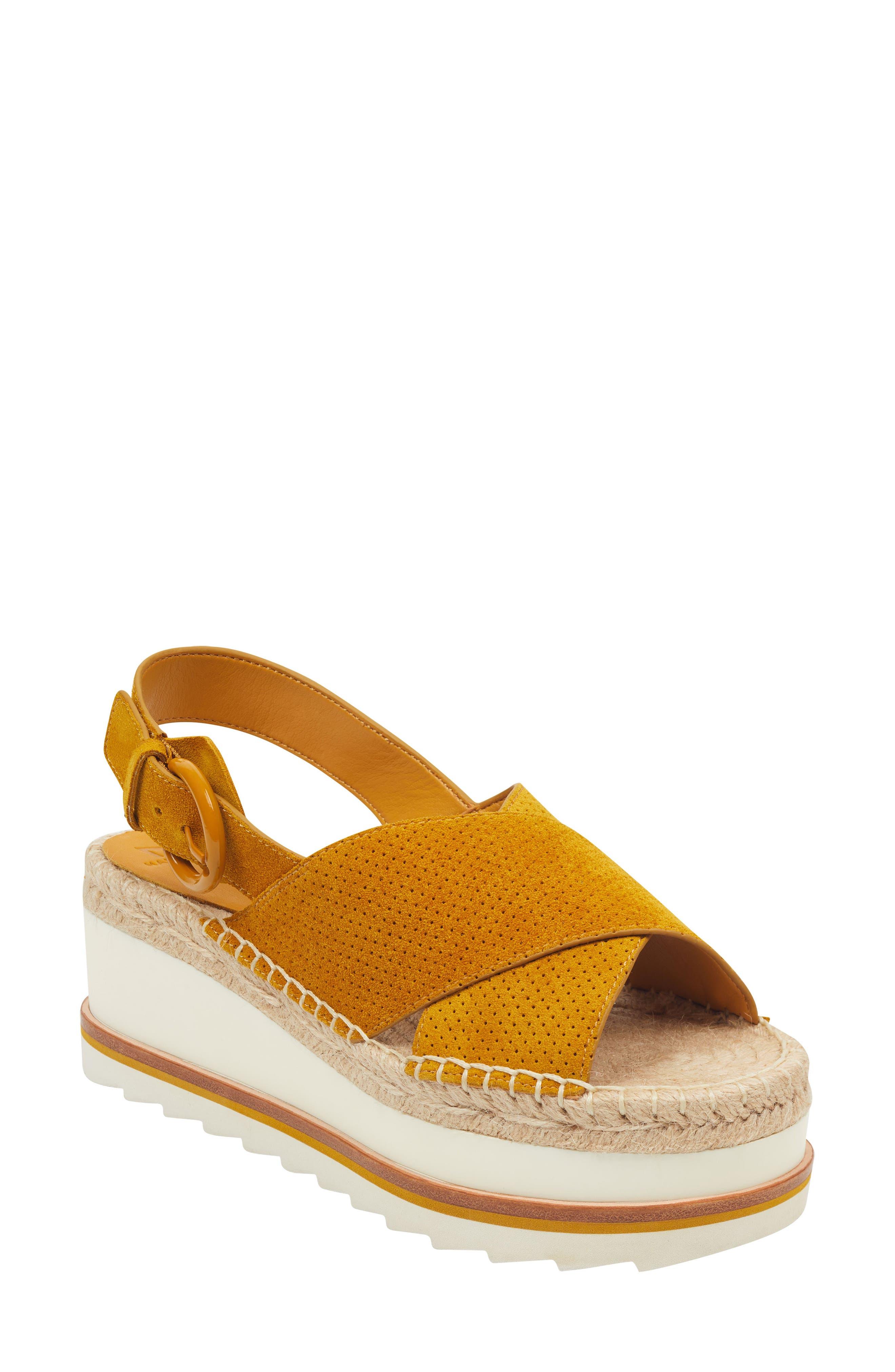 Marc Fisher Ltd Gellyn Slingback Sandal, Yellow