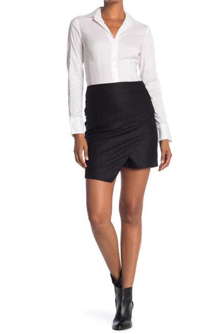 Image of Zadig & Voltaire Just Pinstripe Print Draped Mini Skirt