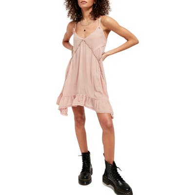 Free People Sway With Me Trapeze Tunic Dress, Pink