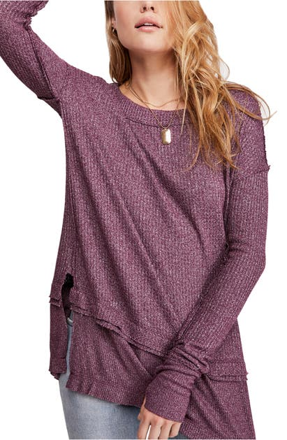 Free People Knits NORTH SHORE THERMAL KNIT TUNIC TOP