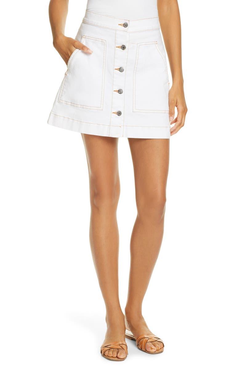 VERONICA BEARD Getty Cargo Skirt, Main, color, 100