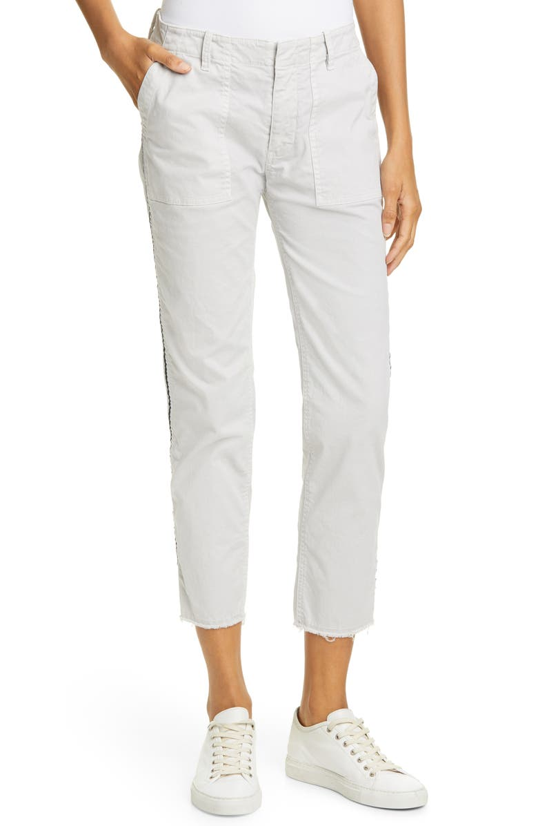 NILI LOTAN Jenna Side Tape Crop Pants, Main, color, 070
