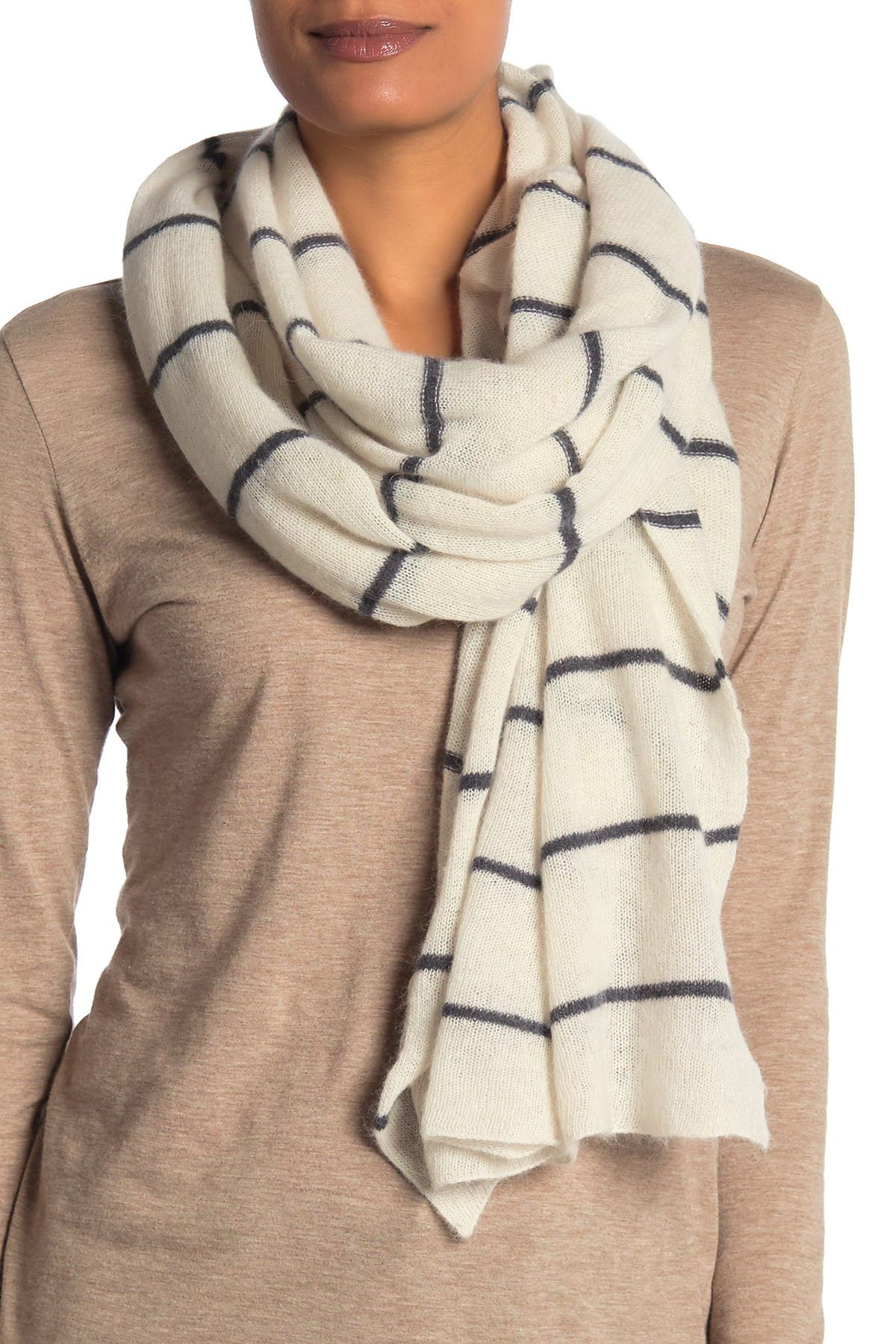 Image of Portolano Striped Wool Blend Scarf