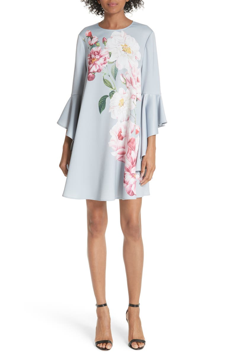 TED BAKER LONDON Sayda Iguazu Shift Dress, Main, color, 030