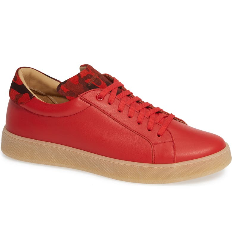 JARED LANG Rome Sneaker, Main, color, RED