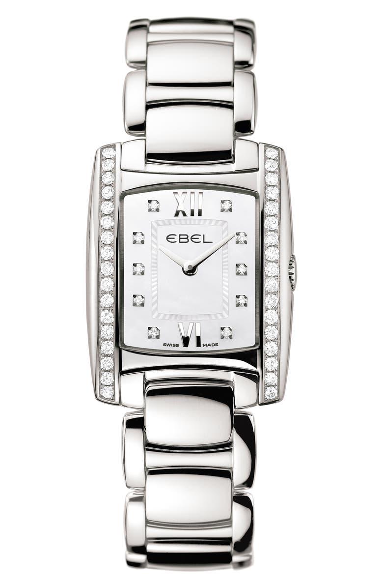 EBEL Brasilia Mini Diamond Bracelet Watch, 24mm, Main, color, 040