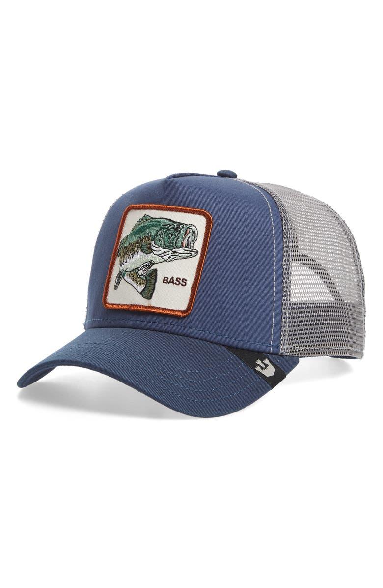 GOORIN BROS. Big Bass Trucker Hat, Main, color, BLUE