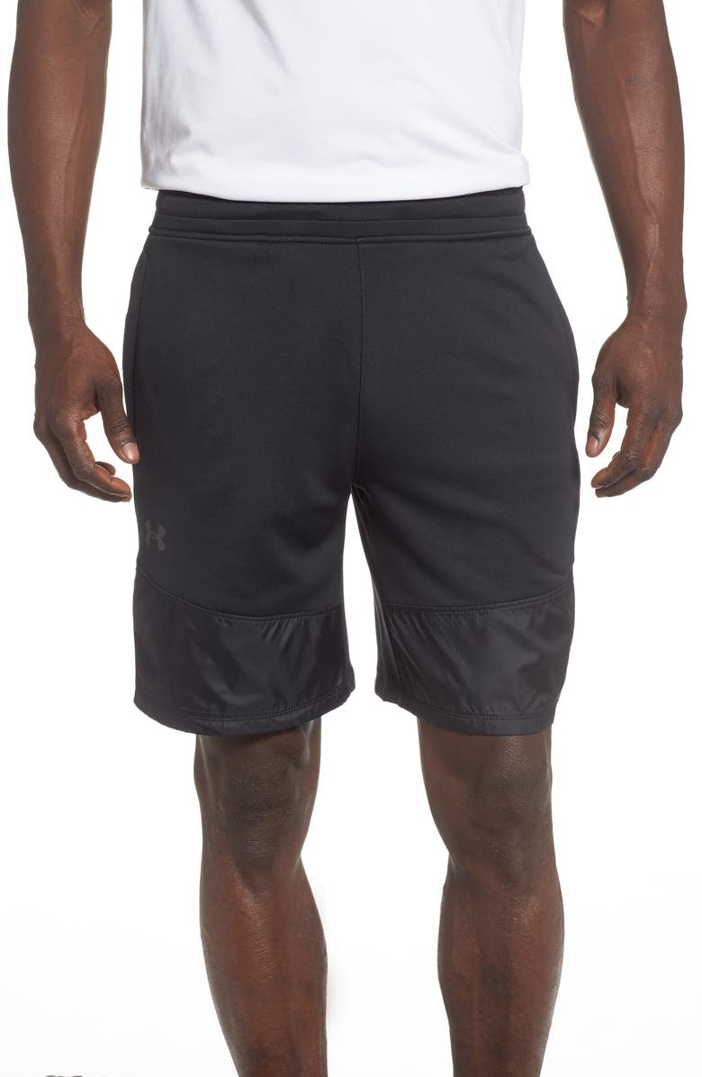 UNDER ARMOUR MK-1 Terry Shorts, Main, color, BLACK/ JET GREY