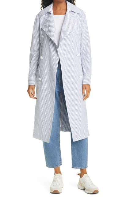 Image of Rag & Bone Adrienne Stripe Print Trench Coat