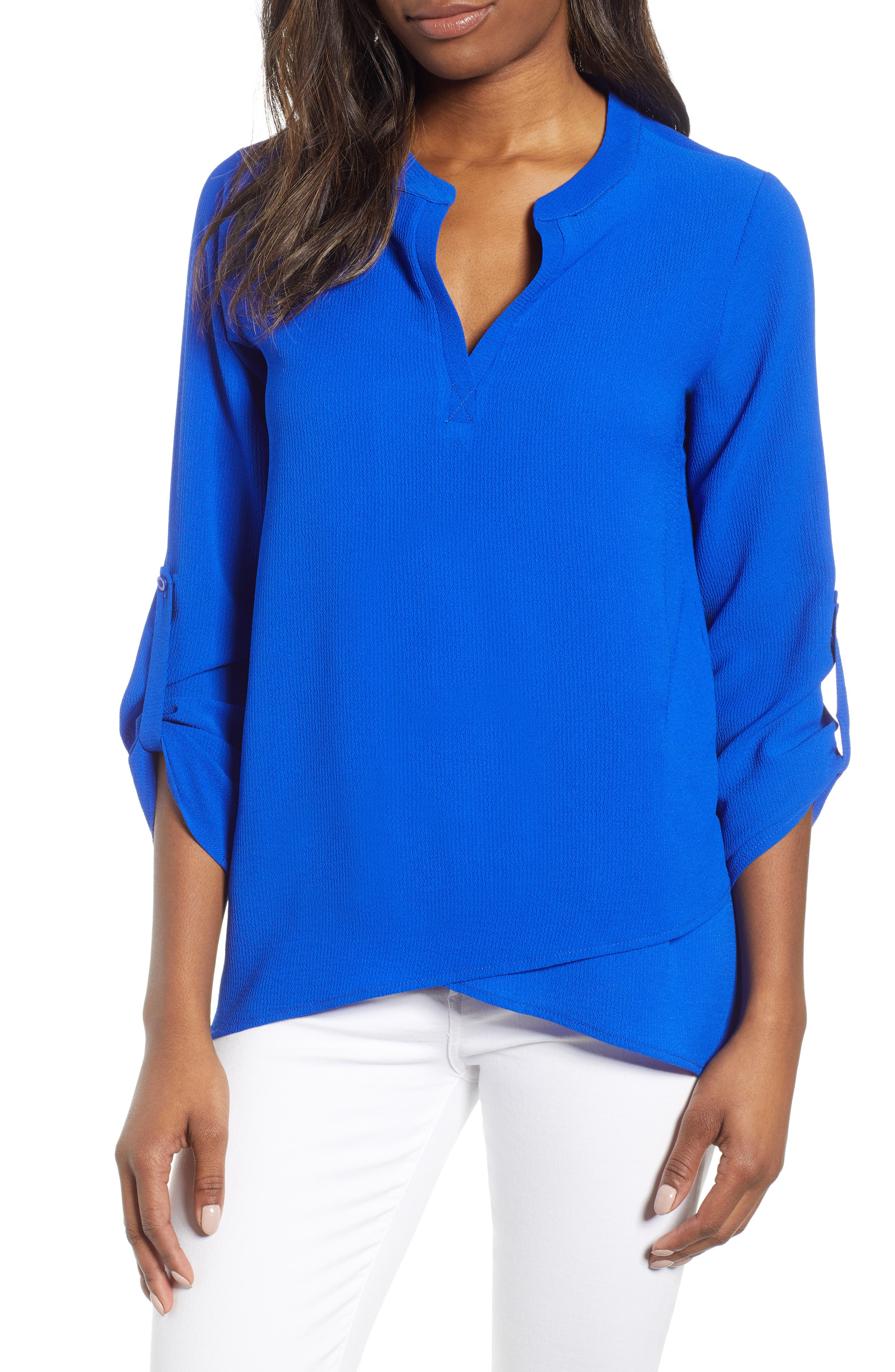 ,                             x International Women's Day Erin Cross Front Tunic Blouse,                             Main thumbnail 47, color,                             499