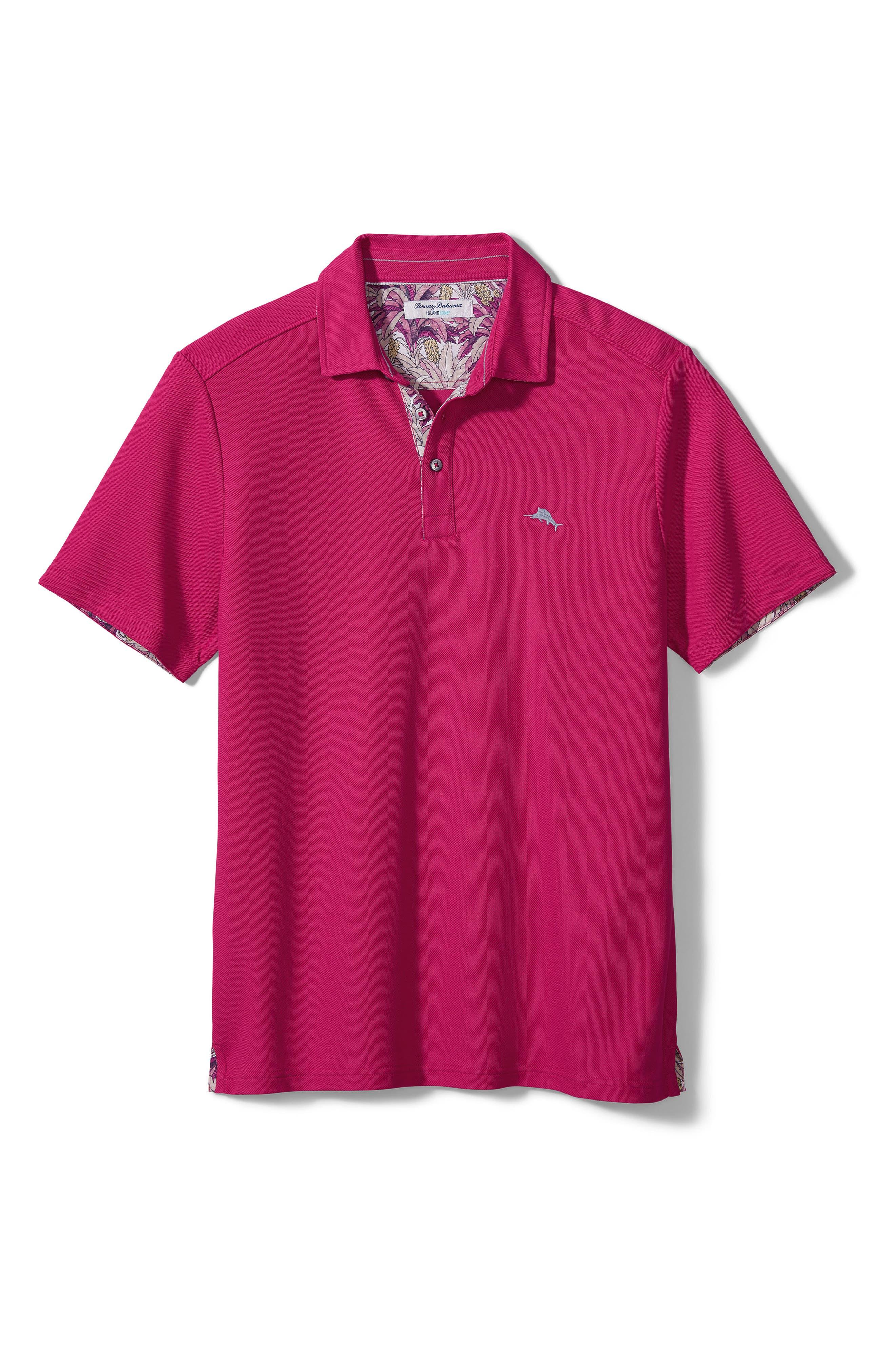Men's Big & Tall Tommy Bahama Five O' Clock Tropic Short Sleeve Pique Performance Polo Shirt